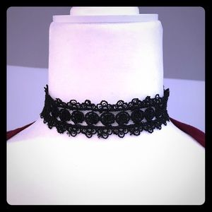 Sexy Black Lace Choker Necklace